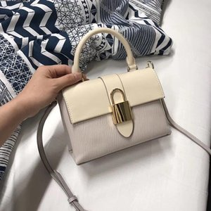 Elegant2019 Grain Toothpick Handbag Ma'am Bag Lock Catch Ornaments Small Square Joker Single Shoulder Span Package