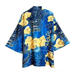 Fashion Cape Coat Tang costume marque Fu Tang Shihui Dragon robe costume manches sept quart lâche manteau manteau liningfree