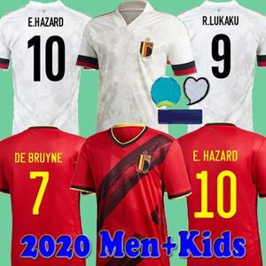 2020 Euro Bélgica Hombres Niños 2021 de fútbol jerseys PELIGRO Lukaku Mertens de BRUYNE Batshuayi KOMPANY 20 21 camisas del fútbol de los kits conjunto uniforme