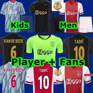 Top 20 21 maillot de foot ajax PROMES Accueil Troisième 50e anniversaire VAN DE BEEK NERES Gardien de but 2020 2021 TADIC Maillot de football HOMMES ENFANTS