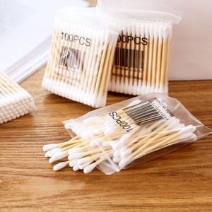 cotone di alta qualità 100 Borsa morbida di legno del bastone doppia testa Cotton fioc sanitario Tampone Home Prodotti tamponi Attrezzo da giardino Improvement
