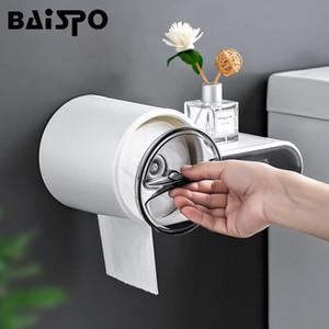 BAISPO Toilette portable Distributeur de papier Accueil Support de rangement Creative hygiénique distributeur de papier mural Boîte de tissu imperméable