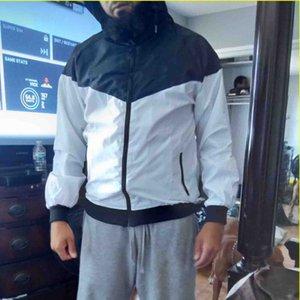 INS Hot lettere stampate del cappotto del rivestimento degli uomini del cardigan delle donne Windbreaker incappucciato via di autunno all'aperto Moda Sport Zipper Homme Abbigliamento S-3XL
