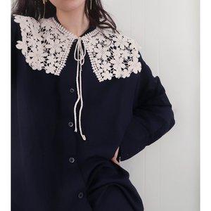 2020 Yeni Katı Sonbahar Kış Eşarp Şık Eşarplar Sevimli Elbise Şal Kadın Hollow Dantel Parti Mesh İplik Mizaç Akşam Eşarp