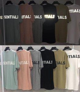 Streetwear de gran tamaño 3M reflectante FOG Esencial camisetas hombres de las mujeres Tee Hiphop Kanye West FOG camisetas camiseta