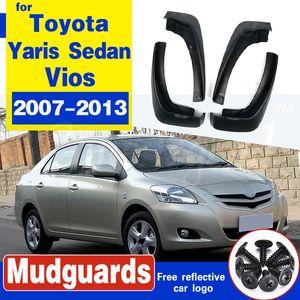 Toyota Yaris salonu Vios Limuzin Belta Mud için 2008 2009 2010 2011 2007-2013 Çamurluk Sıçrama Muhafızları Çamur Flap Çamurluk Fender flap