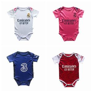 2020 2021 Real Madrid Bayern Münih kısa kollu Yaz Bebek Rompers Yenidoğan Bebek Erkek Kız Romper Jumpsuit Giyim Bebek Kıyafetleri 0-18M