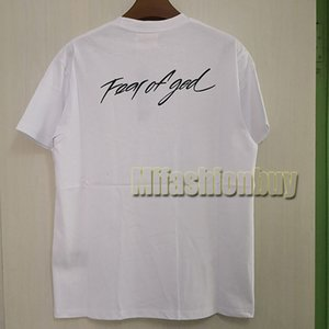 2020 весна лето Европа Америка FOG боятся бога граффити сотрудничество Tshirt Мода Мужчины Женщины Футболка Casual Cotton Tee