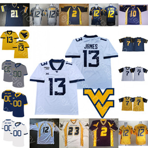 West Virginia Mountaineers WVU Football Jersey NCAA College Jarret Doege Alec Sinkfield Mathis Jr. Ford-Smith Wheaton Simmons Kendall James