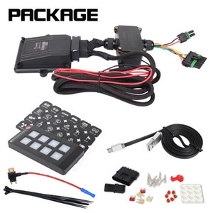 12V DC Off-road Vehicles Cars Universally Applicable 8 Gang Switch Panel Electronic Relay System