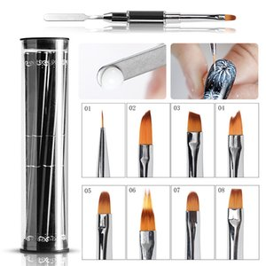 luxury- Professional UV Steel Push Nail Brush Set Design Double-headed Dual-purpose Nail Pen Manicure Art Skill Tool New Set