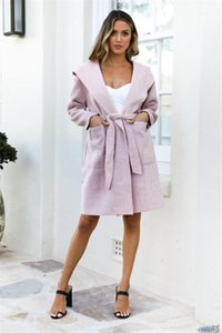 Sleeve Designer Coats New Solid Color Casual Women Clothing Womens Lapel Neck Trench Coats with Sashes Fashion Slim Spring Autumn Long