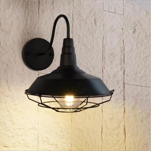 Luci dell'annata applique con paralume in metallo retro rustic Loft antico lampada da parete Edison industriale luce decorativa a parete apparecchi di illuminazione
