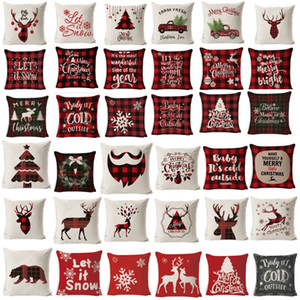 Weihnachtskissenbezug Wohnzimmer-dekorative Kissen Weihnachtskissenbezug Couch Plaid Kissen Stuhl Kissenbezug 45x45cm
