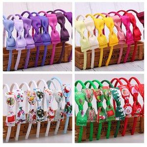New Baby Hair Clip Meninas bowknot Hairpin Headbands feliz natal Crianças Cabelo Hoop cabelo Fecho Hairband Chefe Wraps Chefe Acessórios D82710