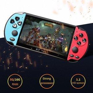 NUOVO 8GB X7 PLUS palmare Giocatore 5.1 pollici di grandi dimensioni dello schermo PSP portatile console di gioco MP4 con la macchina fotografica TV Out TF Video Hand Held kMzu #
