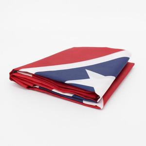 Bandera meridional Batalla Bandera de la Confederación de Estados Unidos 150 * 90cm de poliéster Banderas Nacionales Las dos caras de la guerra civil Impreso Banderas LJJA912