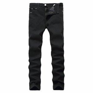 Мужские джинсы черные худые мужчины растягивают стройную одежду плюс размер джинсовые брюки корейские моды длинные прямые