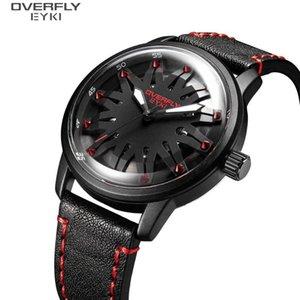 EYKI Mode-Uhr-Mann-Quarz-Bewegung Armbanduhr Schwarz Rot Farbe Männer Uhren Lässige Uhr Male relogio masculino 2020 New E3108