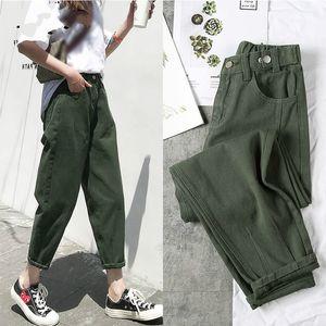 Loose Harem Women's Jeans Female Candy Color Spring 2020 Jeans Women High Waist Denim Pencil Pants Winter Trousers