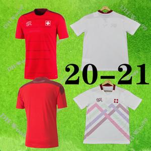 2020 2021 스위스 축구 유니폼 집 (20) (21) SOW 베라미 EMBOLO SEFEROVIC RODRIGUEZ 축구 셔츠 유니폼 태국 꼭대기 스위스 멀리 빨간색