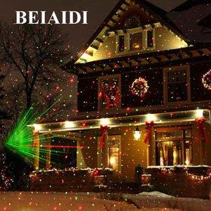 Wholesale -Beiaidi Christmas Outdoor Laser Projector Star Spotlight Garden Landscape Light Dj Disco Stage Lamps R &G Garden Lawn Light