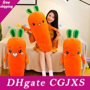 60см мультфильм улыбка Морковь Плюшевые игрушки Симпатичные Моделирование Овощной Морковь Подушка куклы Фаршированные Мягкие игрушки для ребенка, подарок детям