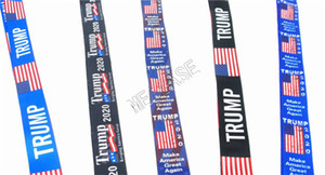 Donald Trump 2020 Designers Lanyards Mobile Phone Strap Key Chest Holder Ring Neck Hanging Strings ID Credit Bus Card Key Ring Bag D81708