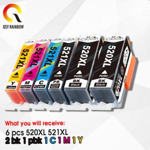 6pcs full Ink Cartridges PGI 520 CLI 521 for Canon PIXMA iP3600 4600 4700 MP 540 550 560 620 630 640 980 MX860 Printer chip