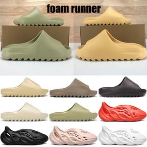 kanye espumas espuma corredor da sandália do deslizador triplos pretos brancos deserto osso resina homens areia kanye west mulheres escorregas de moda sapatos sandálias US 5-11