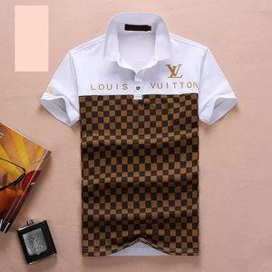 2020 estate Mens Polo risvolto T-shirt manica Slim Fit Cotone Stile casual camicia di affari delle donne di polo degli uomini di formato M-3XL