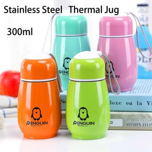300ml Vacuum Flask Outdoor Thermal Cup With Lid Penguin Coffee School Sports Travel Camping Water Bottle Mug for Kids Girls