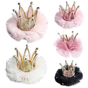 Enfants Kidds fille Princesse strass cristal dentelle Couronne clip New Style Hairpin Décoration Cadeau Accessoires