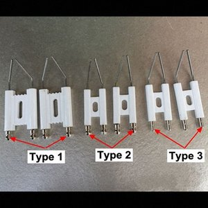 Doppel-Pole Zündelektrode, Brennen Maschine Heizöl Gas-Ofen, Funkenzünder, Otto Nadel, Keramik Zündnadel CnnW #