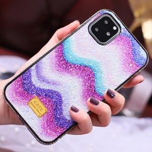 Gradient rainbow Glitter Premium Rhinestone Case For iPhone 12 11 PRO XS XR X MAX 8 7 6S Plus Defender Women Phone Case