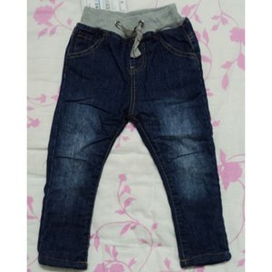 Kids Jeans Girls Denim Drawstring Pants Autumn Winter Fleece Warm Boys Jeans myk01