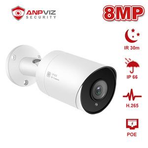 Anpviz 8MP POE IP Camera with One-way Audio H.265 Outdoor Weatherproof ONVIF Compliant IP66 IR 30m Surveillance