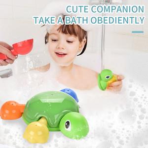 귀여운 만화 아기 목욕 장난감 목욕 샤워 수영장 물 장난감 동물 거북이 유아 수영 거북이 어린이 교육 선물