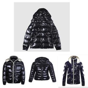 Os Brasão atacado Down Jacket inverno com capuz jaqueta grossa para Lady homens Blusão Casacos revestimento do hoodie homem e as mulheres casacos