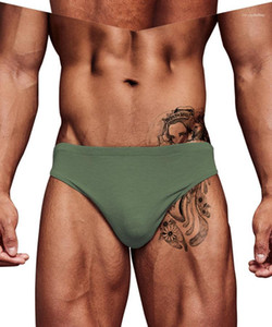 Modal Lift Hip Thin Underwears Men Fashion Slim Casual Underpants Mens Breathable Solid Sexy Briefs Man