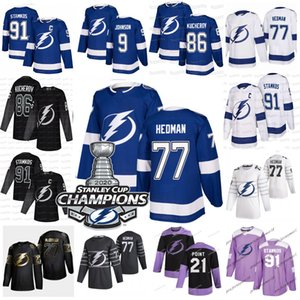 Victor Hedman Tampa Bay Lightning 2020 Stanley Cup Champions Nikita Kucherov Brayden Point Shattenkir Stamkos McDonagh Johnson Gourde Jersey