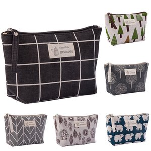 Canvas Wash Bags Makeup Cosmetic Bag for Travel Waterproof Print Storage Pouch Multifunction Women Storage Bags DHL WX9-1893