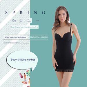 yTldT Body korse Streç tulum vücudu şekillendiren tulum göbek tutucu bant iş elbiseleri, göbek tutucu bant göğüs tutma giyim korse