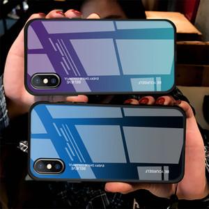 Nova Chegada 3D Artistic Gradient Temperado Phone Telefone Capa Para iphone 11 Pro Max 11Pro XS X XR 7 8 PLUS 6 6S TELEFONE PROTEÇÃO Capa