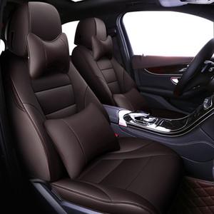 Чехлы сиденья ZHOUSHENGLEE Пользовательские автомобилей для 7 серии F01 F02 F03 F04 G11 G12 E65 / 66 X1 E84 F48 F49 автомобильные аксессуары автомобильной подушке