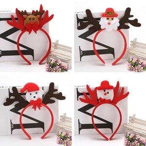 4 Bandas cor decorações de Natal Cabelo Antler Red não Birthday Party Holiday Party Headband Woven Supplies 100pcs T1I2290