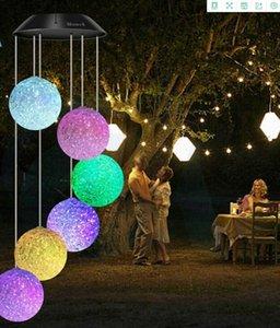 lampe extérieure carillon vent solaire balle particules balle lampe LED colorée Modeling Wind Chime