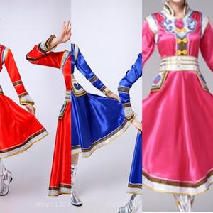 Nouvelle-porter féminin minorité ethnique mongole spectacle de danse mongole spectacle de danse nationale de scène costume grande jupe costume