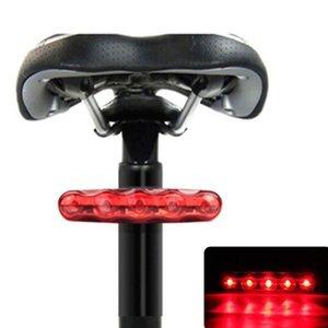 Cauda Bike Light 5 LED traseira Bike Light Bicicleta vermelha Voltar bicicleta Taillight Noite Segurança equitação Aviso Lâmpada Accessori