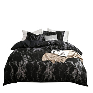 Printed Marble Pattern Bedding Set Duvet Cover Set 2 3pcs Bed Twin Double Queen Quilt Cover Bed Linen (No Sheet No Filling)